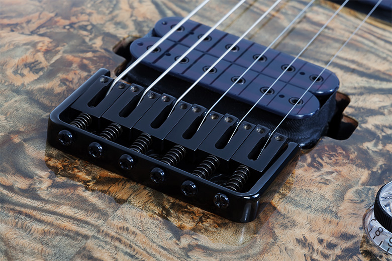 Schecter Custom Hardtail Brücke mit String-Thru-Body